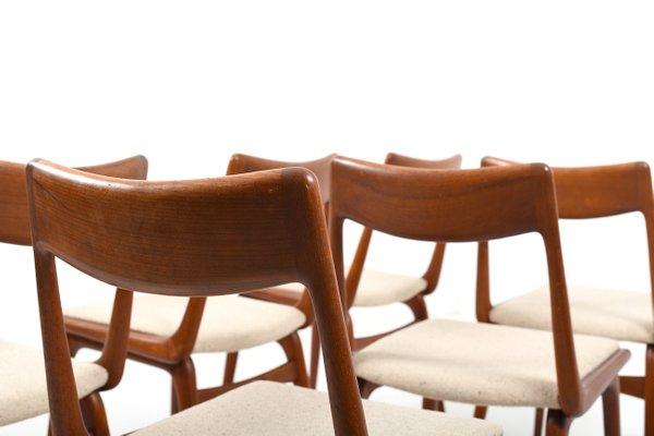 boomerang teak chairs by alfred christensen for slagelse mobelvaerk 1960s set of 6