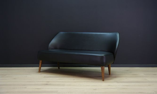 canape vintage en cuir ecologique 1