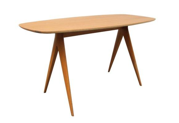 cherry wood coffee table 1950s