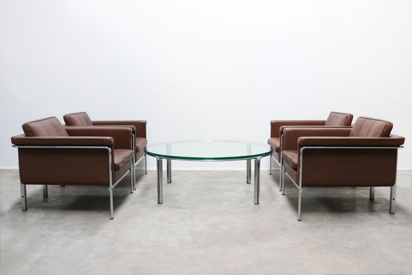 set of lounge chairs coffee table by horst bruning for kill international 1960s