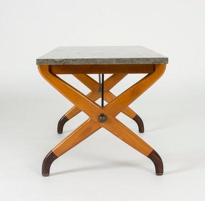 table basse en pierre a chaux par david rosen pour nordiska kompaniet 1950s