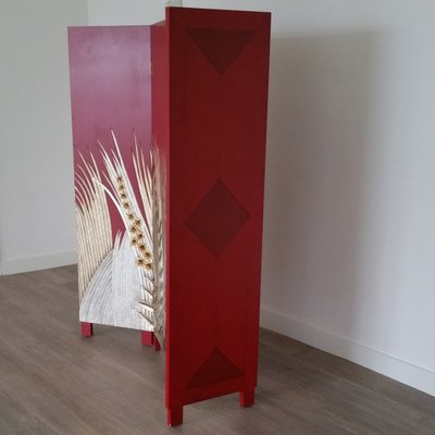 Art Deco Style Wooden Folding Screen Room Divider 1970s For Sale At Pamono