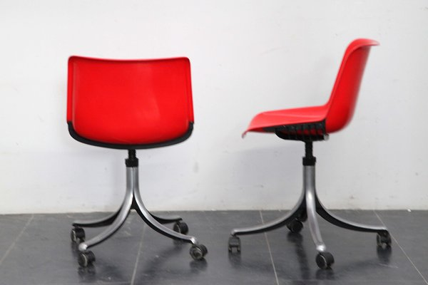 sedie in plastica di design. Sedie Girevoli Modus Di Osvaldo Borsani Per Tecno Anni 70 Set Di 2 In Vendita Su Pamono