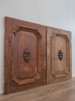 18th Century Italian Wooden Floral Wall Panels Set Of 2 For Sale At Pamono