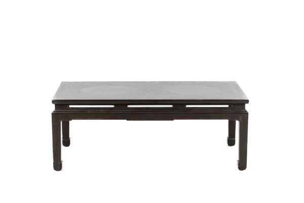 table basse en laque verte annees 50