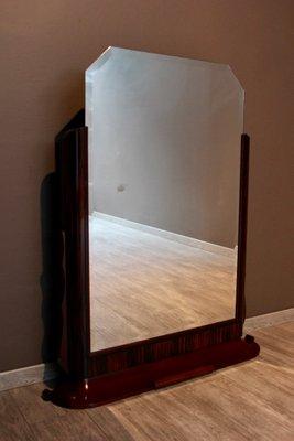 miroir art deco vintage en palissandre 1930s