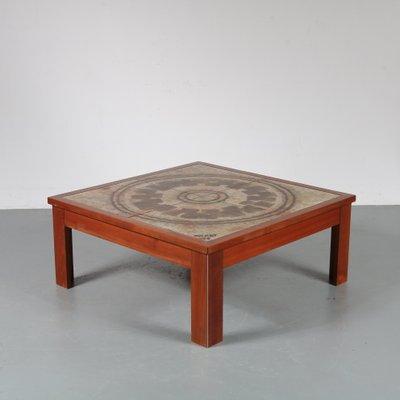 table basse vintage en ceramique de ox art danemark 1970s