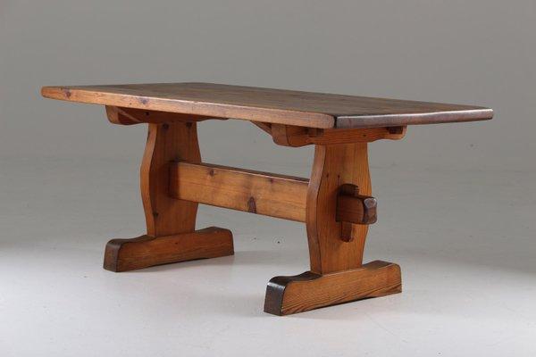 swedish pine coffee table 1930s