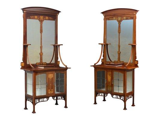 meubles art nouveau anciens set de 2
