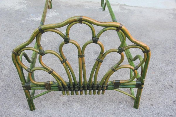 vintage italian bamboo bed frame