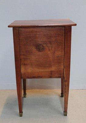 table de chevet ancienne en merisier