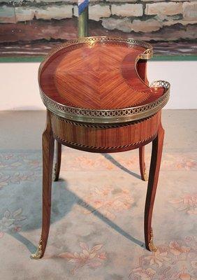 table basse haricot ancienne en palissandre et acajou