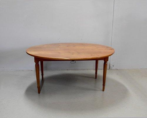 grande table de salle a manger ovale extensible antique en frene blond