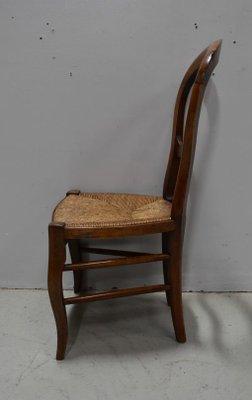 chaise pour enfant louis philippe ancienne en merisier et paille