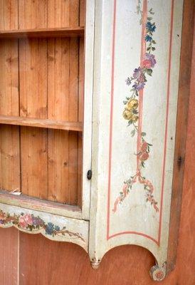 vitrine murale ancienne en bois peint