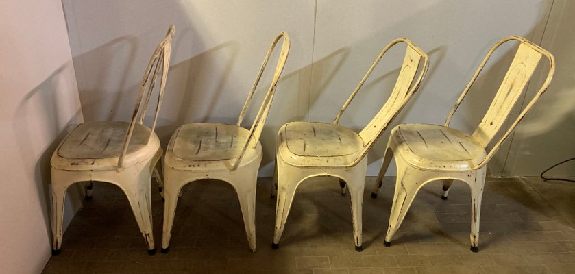Mid Century Metal Dining Chairs Set Of 4 For Sale At Pamono