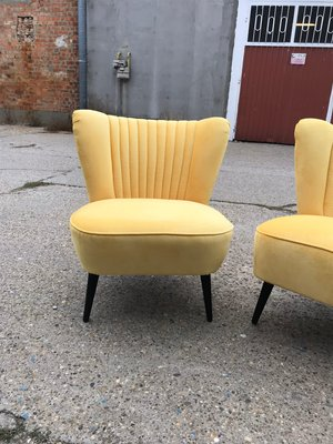 Yellow Lounge Chairs 1950s Set Of 2 For Sale At Pamono
