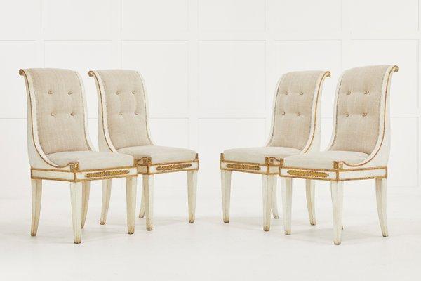 chaises de salle a manger italie 19eme siecle set de 4