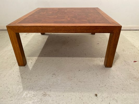 burl wood coffee table from drexel 1950s