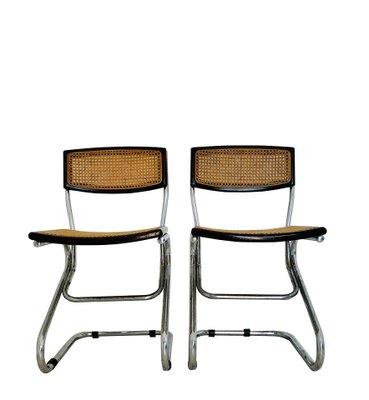 Dimensioni 120 cm x 120 cm. Sedie Da Pranzo Vintage In Legno E Paglia Anni 70 Set Di 2 In Vendita Su Pamono