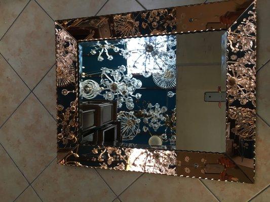 grand miroir venitien annees 50