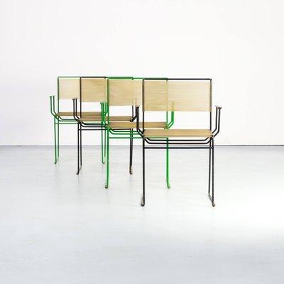 chaises de salle a manger par giandomenico belotti pour fly line 1970s set de 4