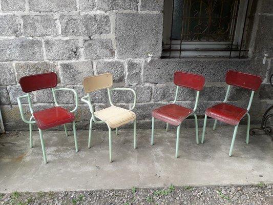 mobilier de jardin vintage en metal 1950s set de 4