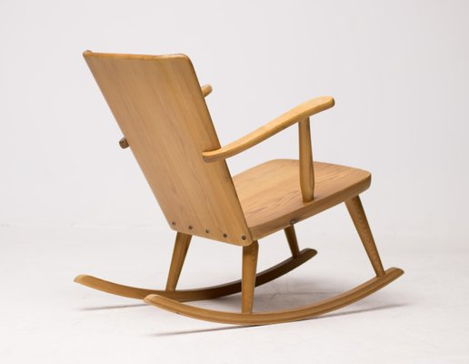 Scandinavian Pine Rocking Chair 1950s For Sale At Pamono