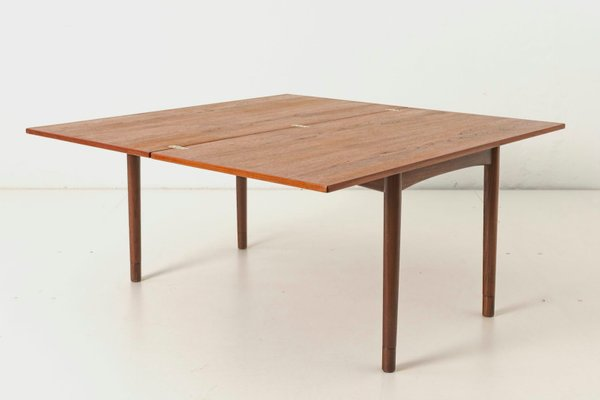 danish teak convertible coffee table from frem rojle 1960s