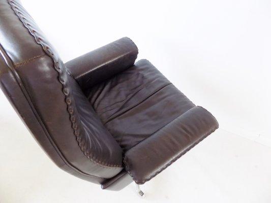 dark brown leather model ds 35 swivel desk chair from de sede 1960s