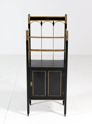 Art Nouveau Vienna Secession Lacquered Wood Brass Magazine Stand 1900s For Sale At Pamono