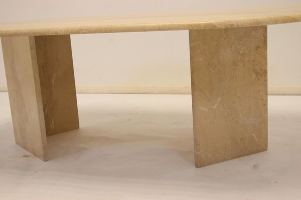 french travertine marble coffee table 1960s