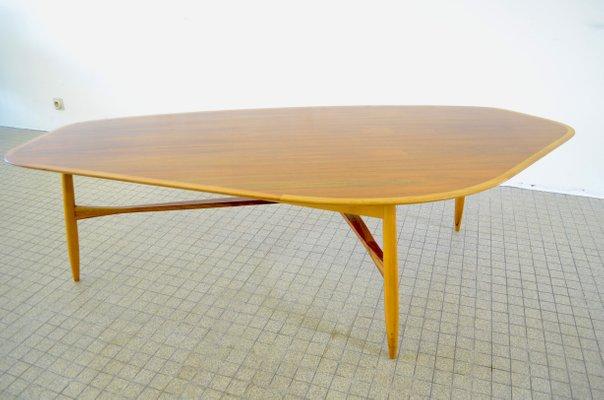 grande table basse mid century en forme de haricot organique par svante skogh pour laauser 1960s
