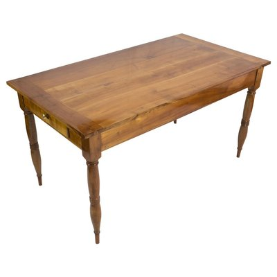 table de salle a manger biedermeier antique en merisier massif