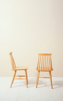 Mid Century Model Tellus Pinnstolar Dining Chairs From Ikea 1950s Set Of 4 For Sale At Pamono