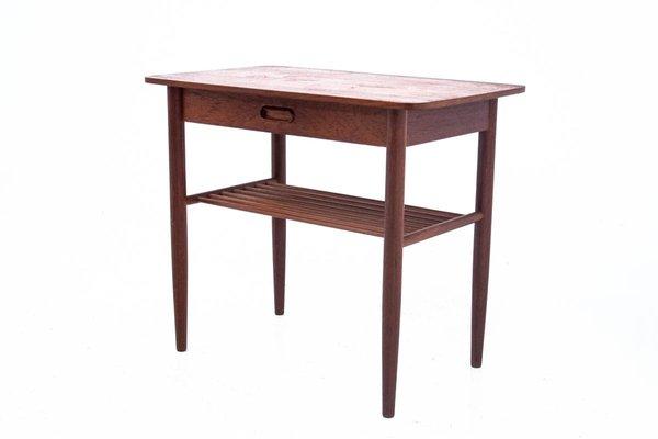 table d appoint avec tiroir danemark 1960s