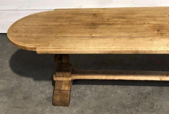 grande table de ferme de refectoire en chene avec rallonges france