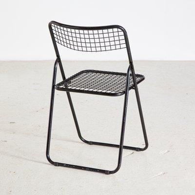 chaise pliante par niels gammelgaard pour ikea 1970s