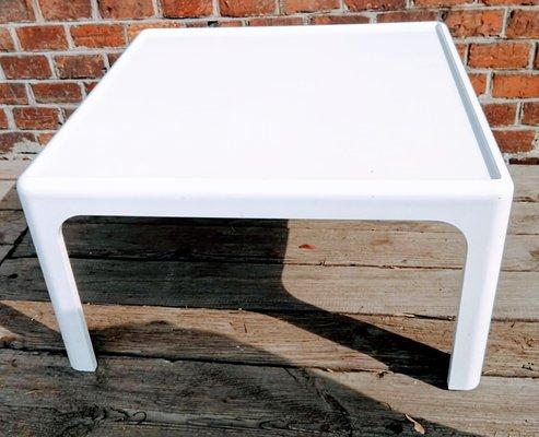modern white coffee table 1980s