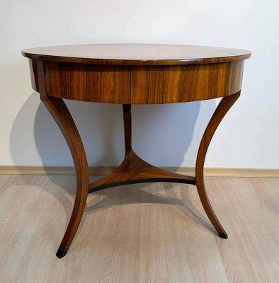 small biedermeier saloon coffee table in walnut veneer south germany 1825