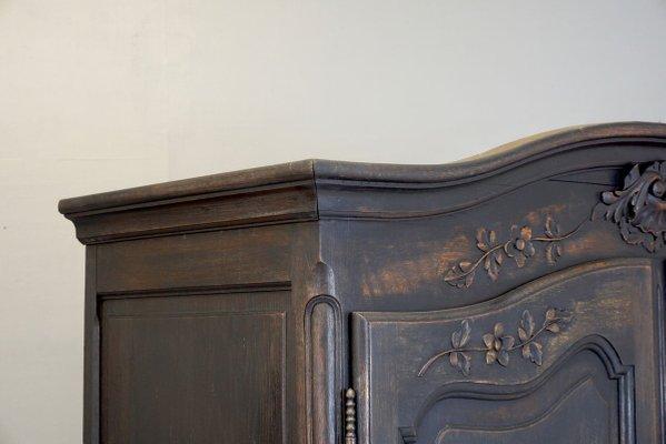 black 2 door armoire 1950s