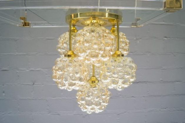 Gold Bubble Glass Ceiling Light by Helena Tynell for Limburg  1960s     Gold Bubble Glass Ceiling Light by Helena Tynell for Limburg  1960s for  sale at Pamono