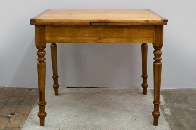 Small Antique Extendable Dining Table For Sale At Pamono
