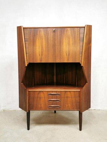 mid century rosewood corner bar cabinet 1960s
