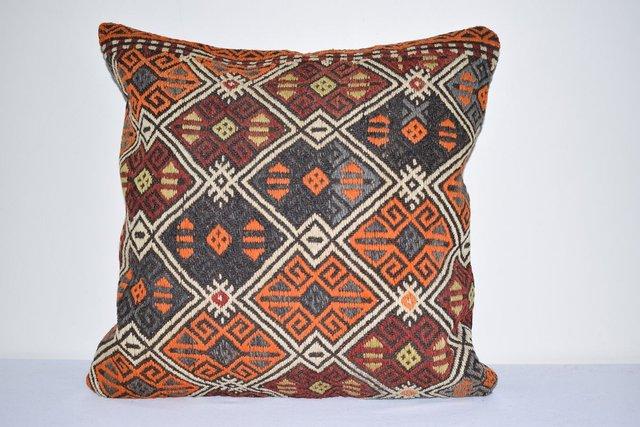 large turkish kilim cushion cover