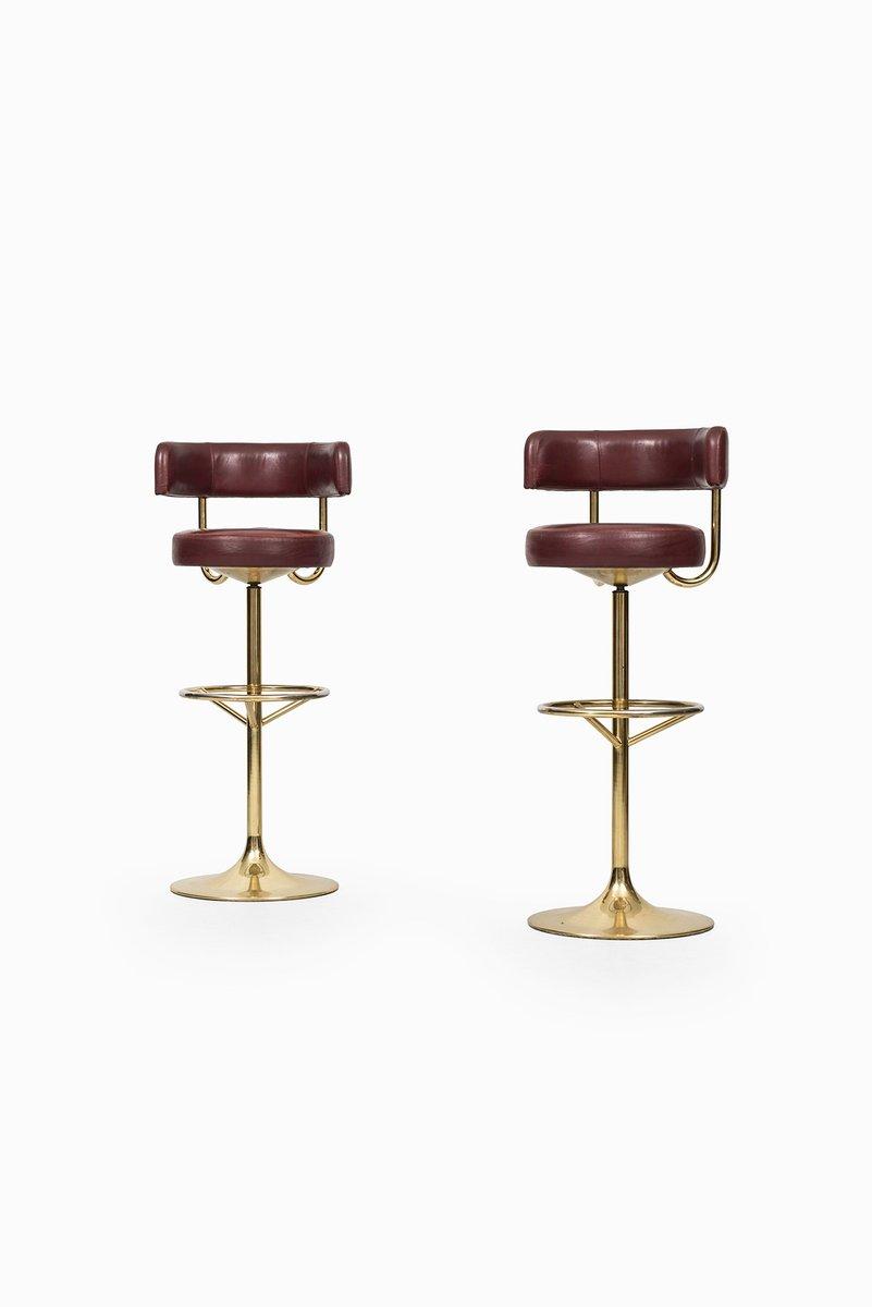 tabourets de bar hauts de borje johansson 1960s set de 2