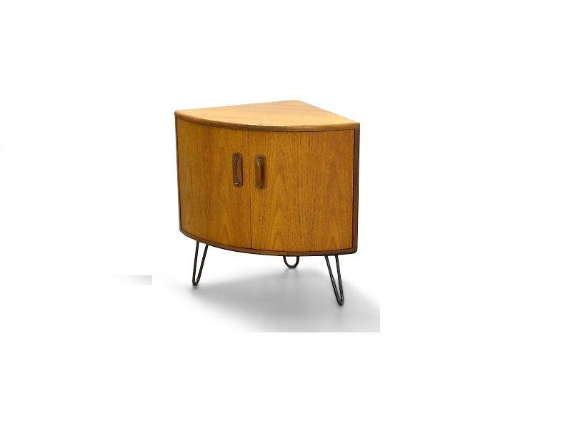Mid-Century Teak Corner Cabinet By Victor Wilkins For G