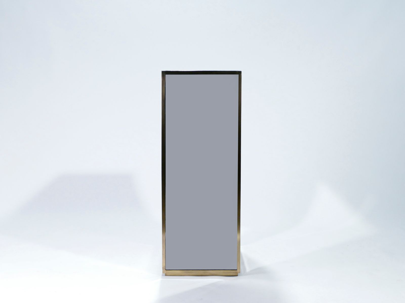 Large Mirror Amp Brass Pedestal S For Sale At Pamono