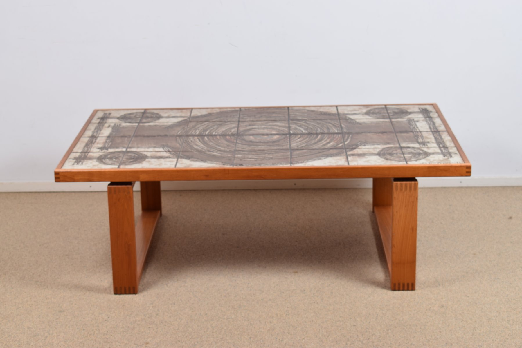tile coffee table by ox art 1970s