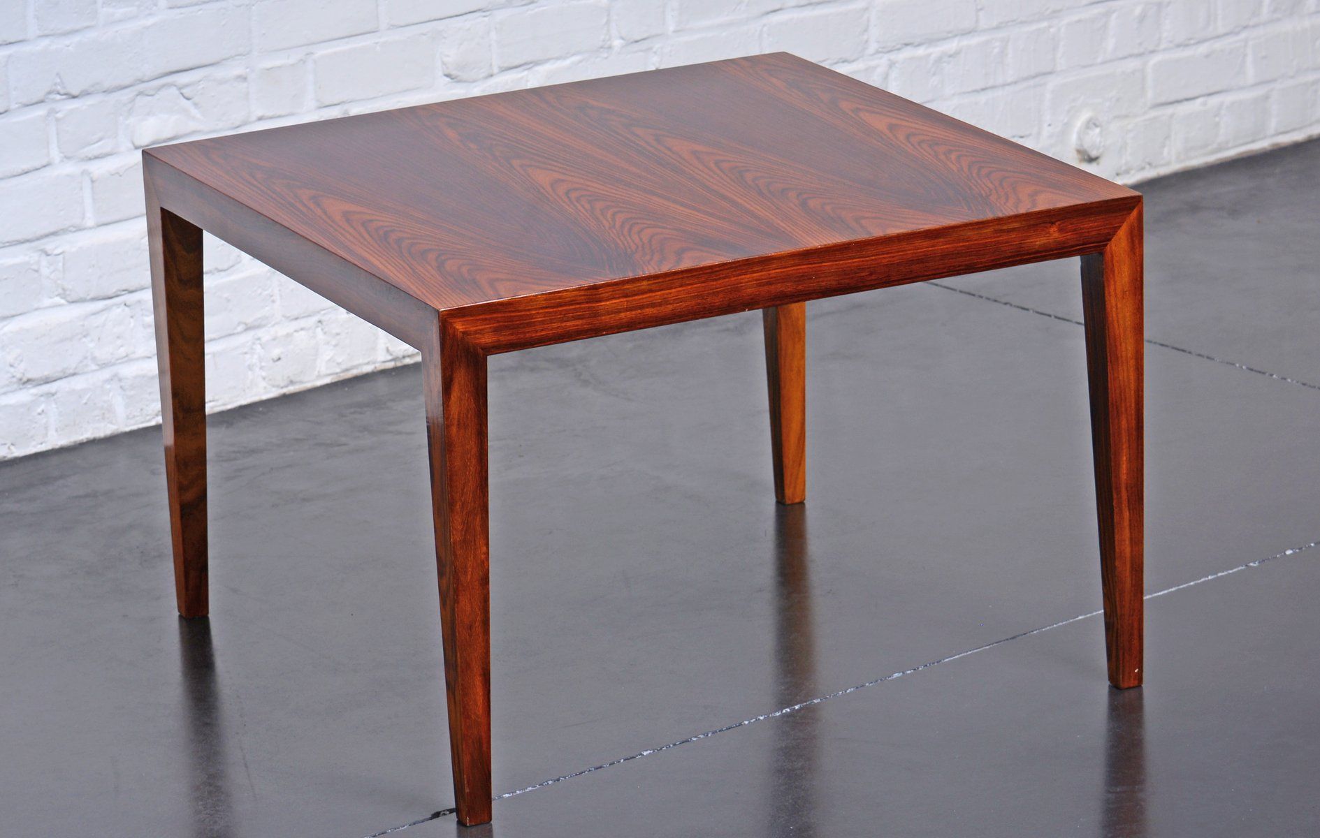 Square Rosewood Coffee Table By Severin Hansen For Haslev